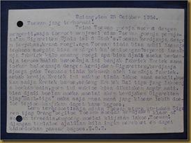 Kartu pos Kim Hok Batang Temanggung 25 okt 1934 - balik