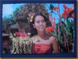 Post Card Penari Pendet Bali