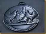 Liontin Coin Perak Ayam - relief