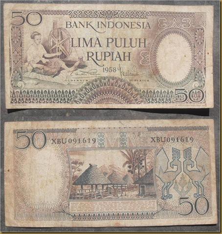 50 RUPIAH 1958