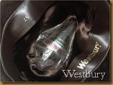 Topi Fedora Westbury coklat - logo