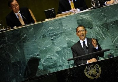 Obama speaks at the UN... Goodbye to peace