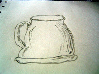 a drawing of my giant mug