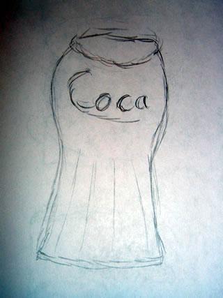 A coca-cola pint glass