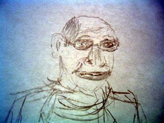 Bad sketch of Michael Pollan