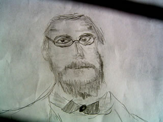 Sketch of Rudolf Virchow father of pathology