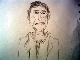 sketch of Craig Kilborn