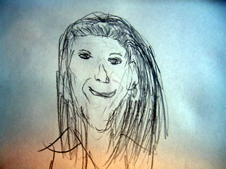 sketch of elaine from seinfeld