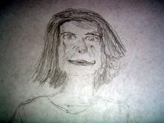 Sketch of Jacqueline Kennedy