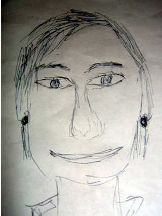 Sketch of Nancy Pelosi
