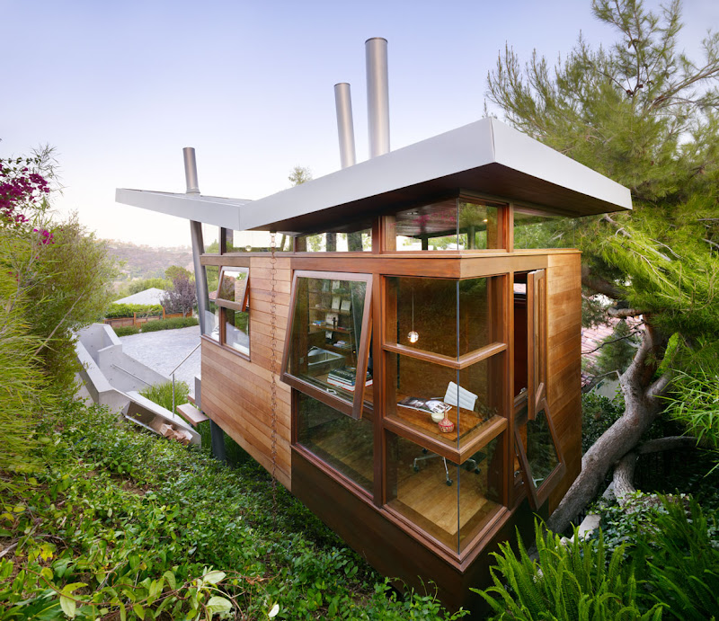 wooden treehouse design minimalist architecture