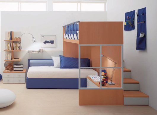 modern colorful kids bedroom interior decorating