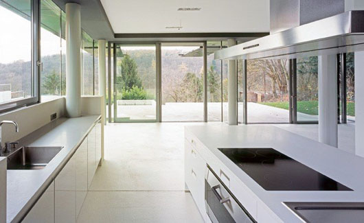 House F Recidence Interior Glass Wall