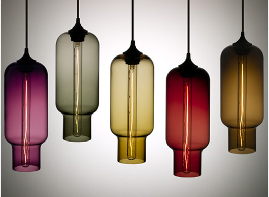 blown glass mini pendant light