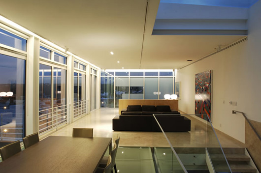 Glass House Design Interior Living Room