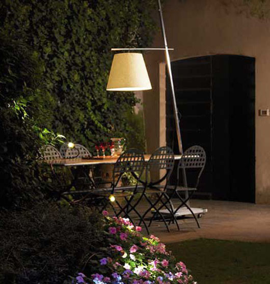outdoor dining area lamps shade lighting