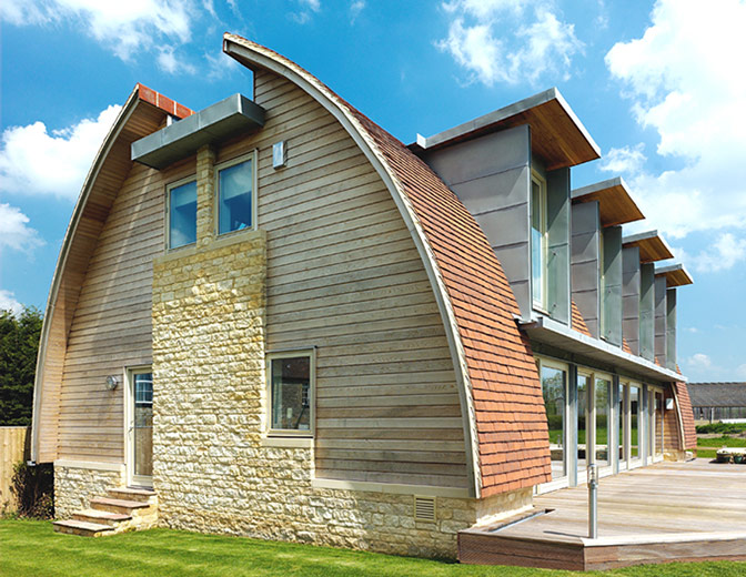 curved roof ideas luxury home design