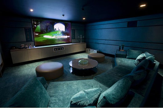 modern house architecture design home theater