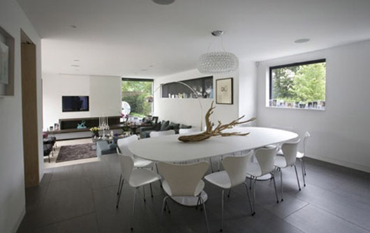 modern house architecture design dining room