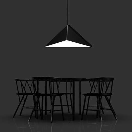 modern design folded metal pendant light