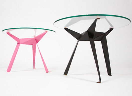 Origami Glass Table Furniture Design