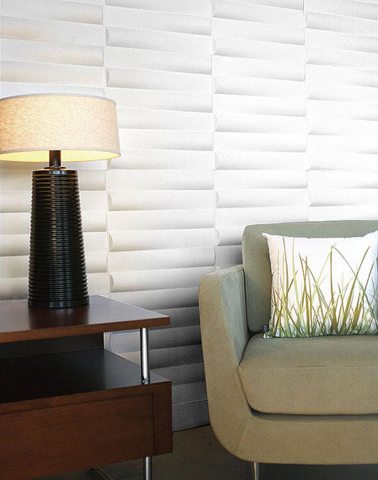 modern embossed wall flat design