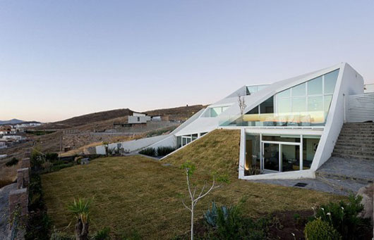 Underground Design House Architecture With Sloped Roof