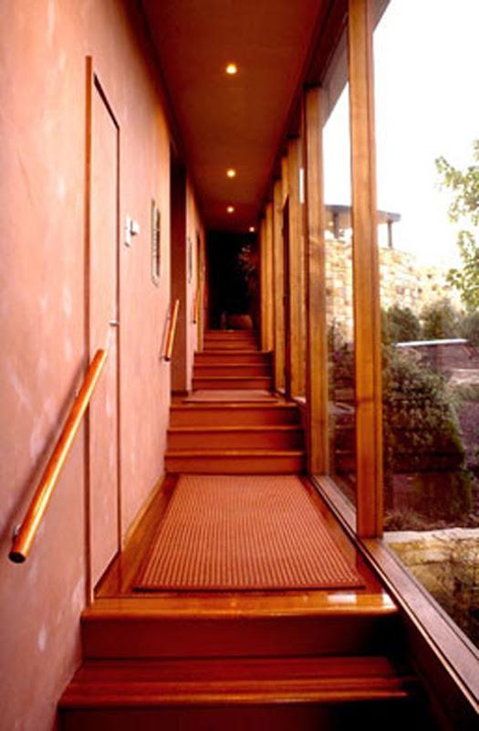 modern curved home design interior