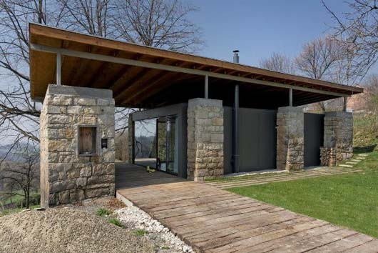 stone wall design home and studio
