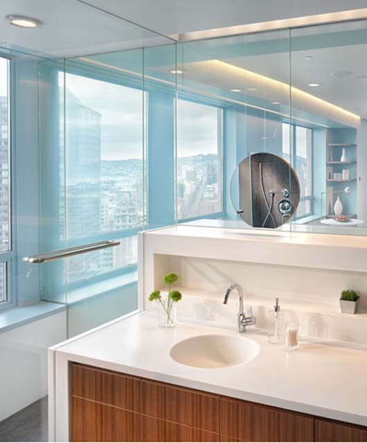 penthouse interior design luxuty bathroom decorating