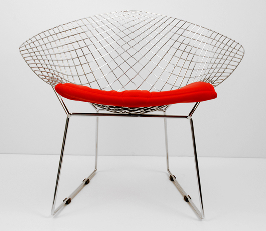 wire chrome lounge chair design furniture