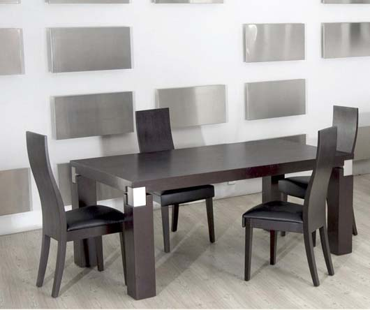 Modern Black and White Dining Set Design Luxury Dining Room Furniture