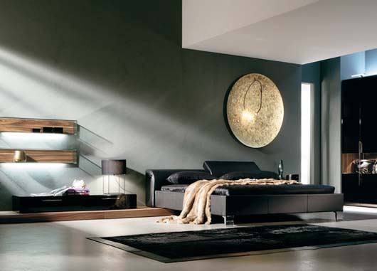 black leather bed design modern home furniture