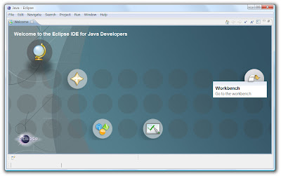 Eclipse IDE for Java DevelopersのWelcome画面