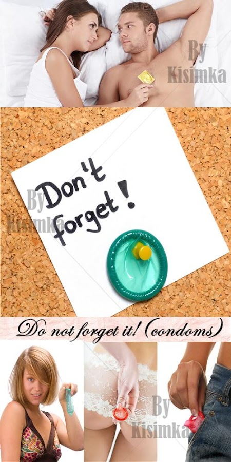 Stock Photo: Do not forget it!(condoms)