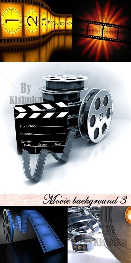 Stock Photo: Movie background 3