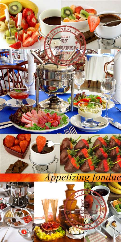Stock Photo: Appetizing fondue