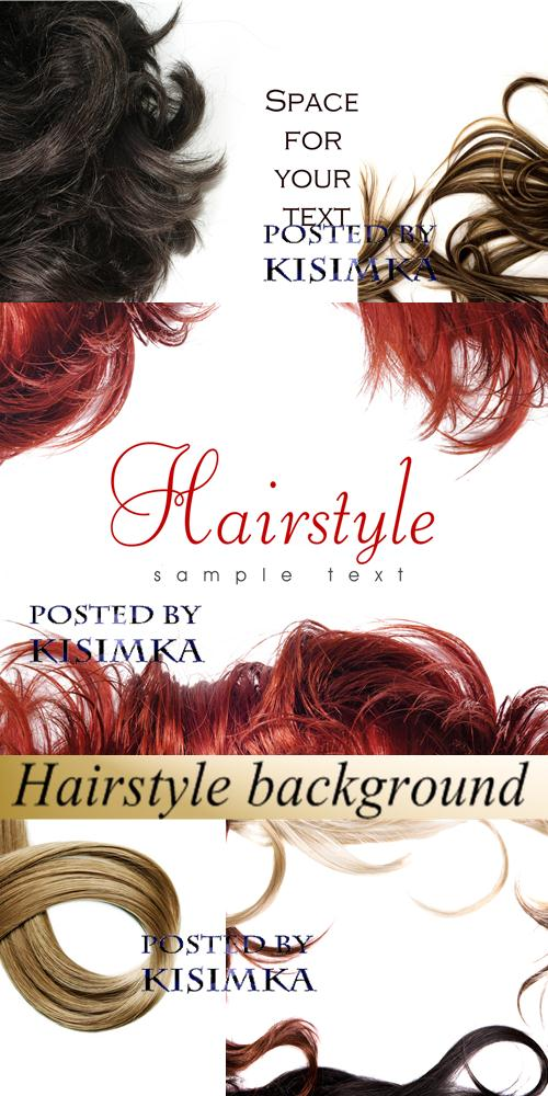 Stock Photo: Hairstyle background