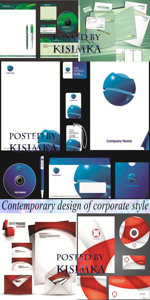 Stock: Contemporary design of corporate style