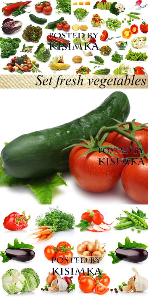 Stock Photo: Set fresh vegetables