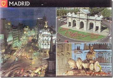 Cartolina Madrid