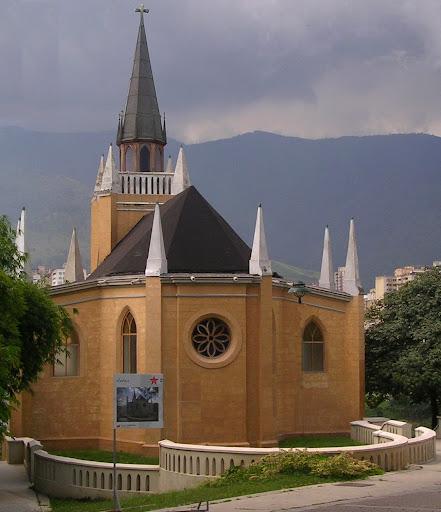 Iglesia en parque Ezequiel Zamora El Calvario Caracas Venezuela
