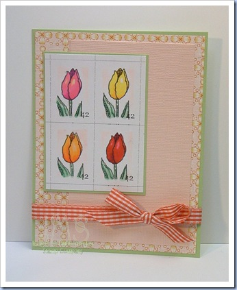 Faux Postage Tulips