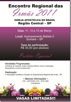 Encrontro Regional Das Irmãs 2011