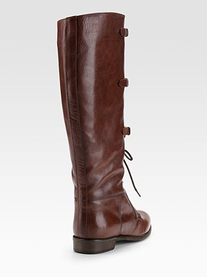 BURBERRY - Lace-Up Riding Boots - 643
