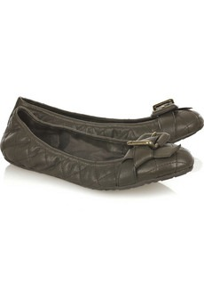 BURBERRY - Quilted leather ballerina flats - 275