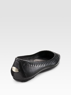 JIMMY CHOO - Studded West Leather Flats - 303