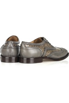 MARC JACOBS - Glitter-embellished leather brogues - 495