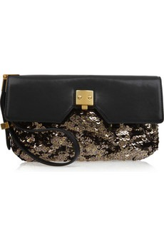 Marc Jacobs - Alexis sequin and leather clutch - 895