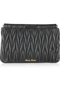 Miu Miu - Matelasse leather clutch - 255